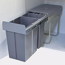 bottom mount waste bin, pull out kitchen waste bin
