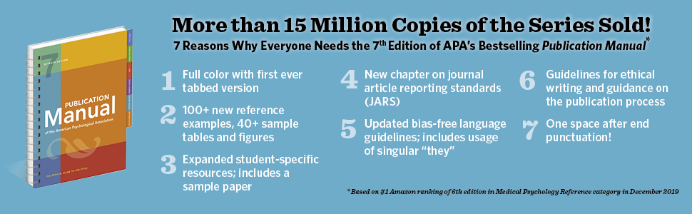 Reasons Why Everyone Needs the 7th Edition of APA's Bestselling Publication Manual book