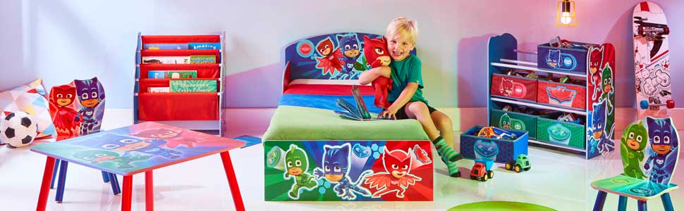 Hello Home Pj Masks Kids Bedroom Toy Storage Unit With 6 Bins Wood Multi Colour 30 X 63 5 X 60 Cm Amazon Co Uk Kitchen Home