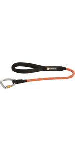 Red Currant Ruffwear Dog Lead with Carabiner Clip 5 ft Size: Small 40203-615S Length: 1.5 m Diameter: 7 mm All Sized Breeds Sturdy Kernmantle Rope Knot-a-Leash
