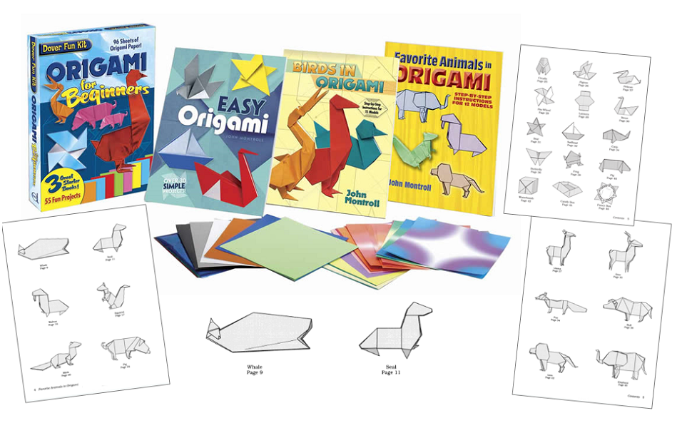 Origami, paper crafts, paper folding, John Montroll, crafts, hobbies, puzzles, children - Origami Fun Kit For Beginners (Dover Fun Kits)'s books