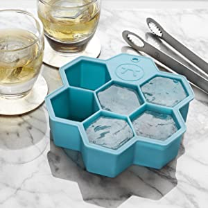 hex tray mold; x-large hex tray mold; silicone hex tray mold; ice cube mold; ice cube tray hex tray