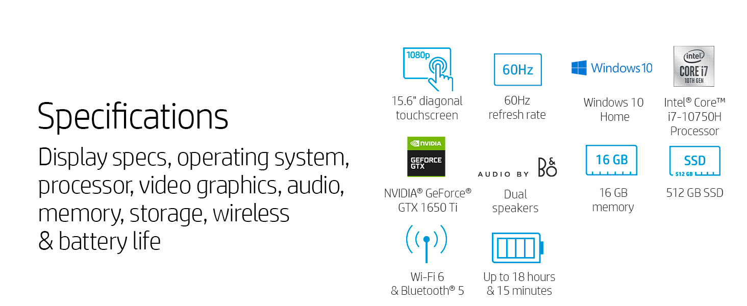 specifications specs 13.3 large big refresh rate 60 hertz hz windows 10 home intel core i7 10th gen