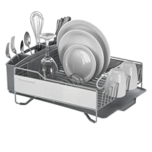 kitchenaid; dish drying rack; dish rack; drying rack for dishes; draining rack; oxo; simplehuman