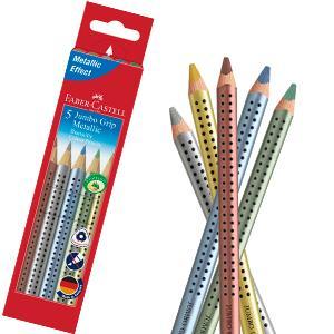 Estuche de cartón con 5 ecolápices Jumbo Grip colores metálicos , color/modelo surtido: Amazon.es: Oficina y papelería