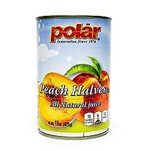 Polar Peach Halves All Natural Juice Canned Fruit