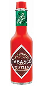 Tabasco Pepper Sauce Chilli Condiment Table Marinate Smoky Hot Fiery Mild Garlic Sriracha Buffalo