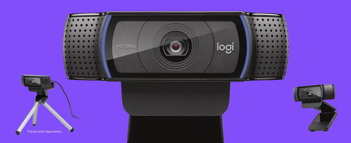 Logitech C920 HD Pro Webcam, Videoconferencias 1080P FULL HD 1080p/30 fps, Sonido Estéreo, Corrección de Iluminación HD, Skype/Google Hangouts/FaceTime, Para Gaming, Portátil/PC/Mac/Android: LOGITECH: Amazon.es: Informática