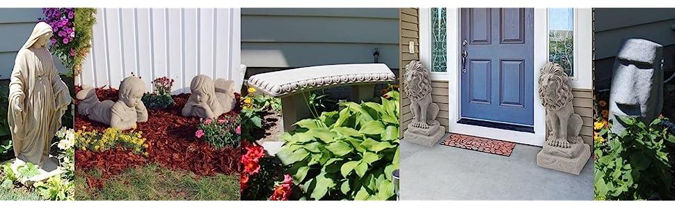 statue statuary sculpture lawn garden yard stone brick concrete plastic granite sandstone religious