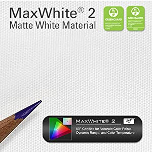 elite screens spectrum maxwhite 2 brighter enhance contrast wide viewing angle 4K ultra hd 3D ready