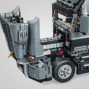 Mack Anthem, camion, rimorchio, camion dell'immondizia, technic, lego, tir