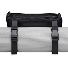 Gaiam Yoga Mat Bag - Wander Free Yoga Mat Carrier Pouch Tote | Adjustable Shoulder Sling Carrying Strap | Two Zippered Pockets, Easy-Clean Liner | ...