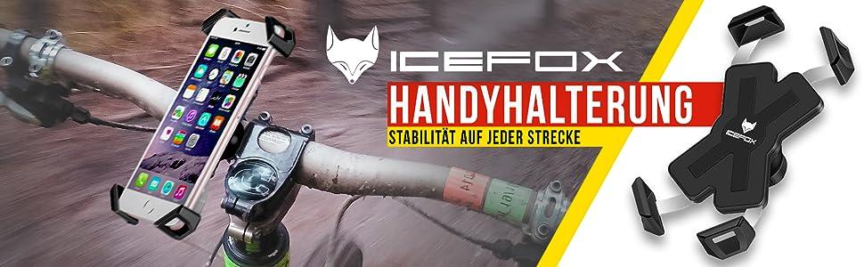 Icefox Handyhalterung Fahrrad Universal Anti Shake Fahrrad Motorrad Handyhalterung Smartphone Fahrradhalterung Mit 360 Drehen Für 3 5 6 5 Zoll Smartphone Gps Andere Geräte Navigation