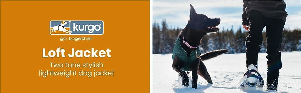 Kurgo loft jacket dog coat cool weather pet clothing
