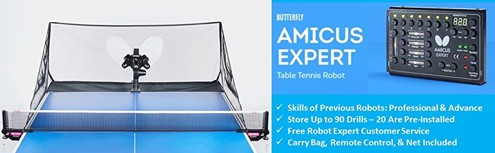 amicus robot;table tennis robot;butterfly robot