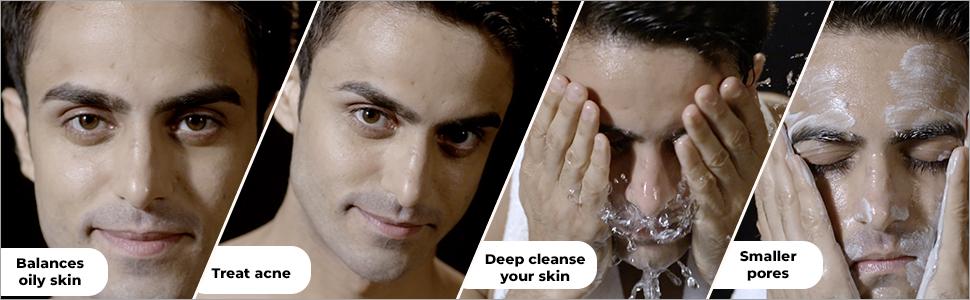 body wash shampoo charcoal face scrub wash soap cleansing gel soft supple oily scars acne dust anti