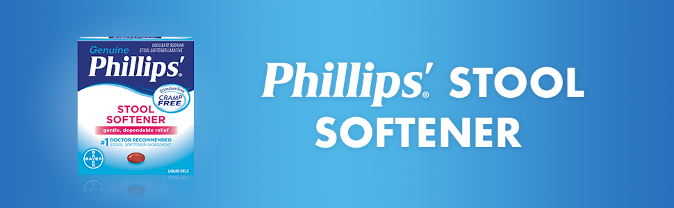 phillips, stool softener, digestive aids, constipation relief, digestion, gentle,