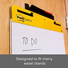 Post-it Easel Pads, Designed to fit many easel stands