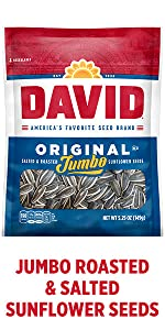 DAVIDs salted and roasted giant sunflower seeds