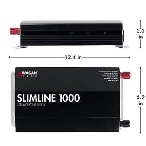 slimline inverter, slim inverter, best inverter, inverter review, 1000w inverter, power converter