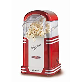 Ariete Party Time Maquina de Palomitas, 1100 W, Color Rojo y Blanco