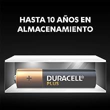 Gracias a la tecnología Duralock, las pilas Duracell sin utilizar permanecen como nuevas y