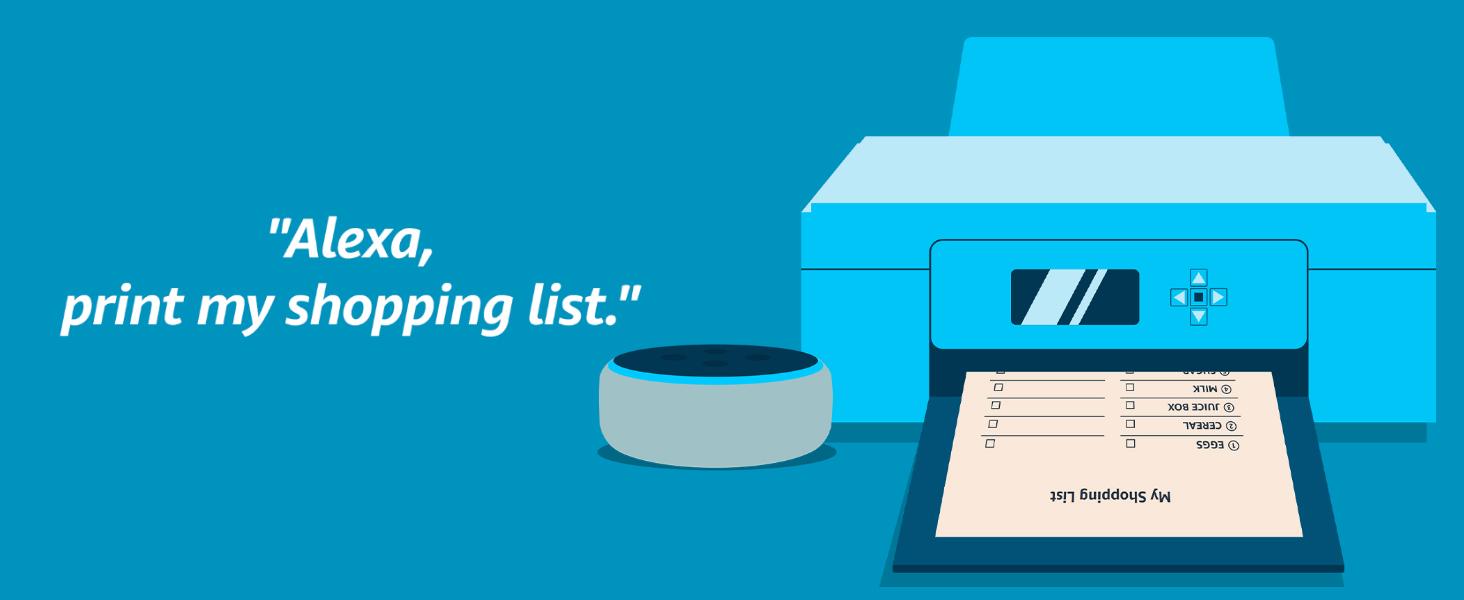 alexa print, laser printer, mobile, voice printer, wireless, printer scanner, imageclass, canon