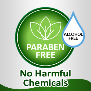Free of Parabens & Alcohol  content