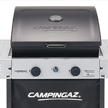 Campingaz Xpert 100 L Plus Rocky Barbacoa Gas para Piedra Volcanica, BBQ gas con 2 quemadores, 7.1kW de potencia, 2 Parrillas de acero cromado, 2 ...