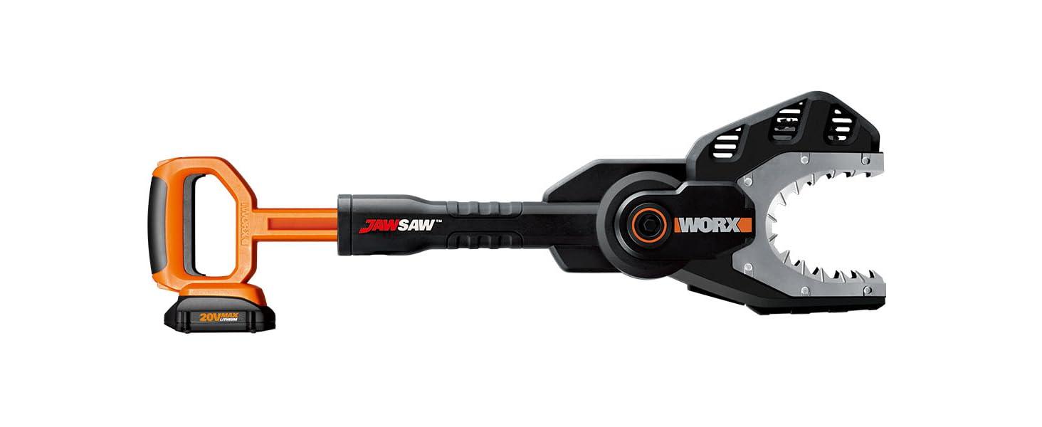 worx 20V jawsaw chainsaw; chain saw; power share chain saw; cordless chainsaw