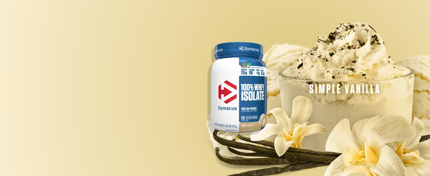 simple vanilla whey isolate protein powder