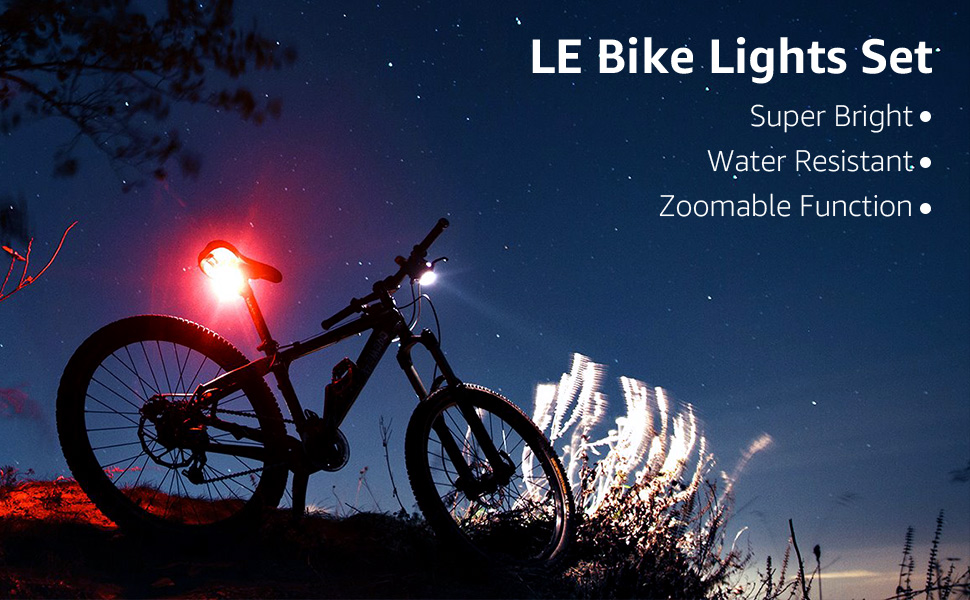 Lighting EVER Luz LED de Bicicleta Zoom Regulable, Linterna ...