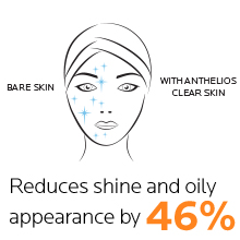 reduces shine and oily appearance