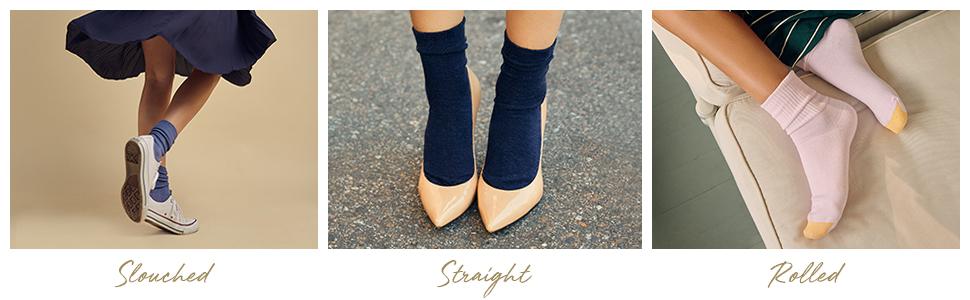 GOLDTOE Turncuff; women's socks