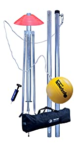 Tetherball set, outdoor, 3 piece, removable, portable