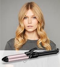 BaByliss C319E Tenacilla de pelo de 19 mm, 10 ajustes de ...
