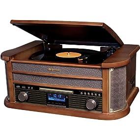 Roadstar HIF-1999 Retro Stereo-Anlage mit Plattenspieler