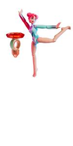 Silver Team Gem 608OVA Gemazing Gymnasium with Magic Balance Gymnast Doll-Luna