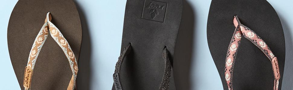 REEF, Sandals, comfort, Cushion, Womens, ginger, Heritage