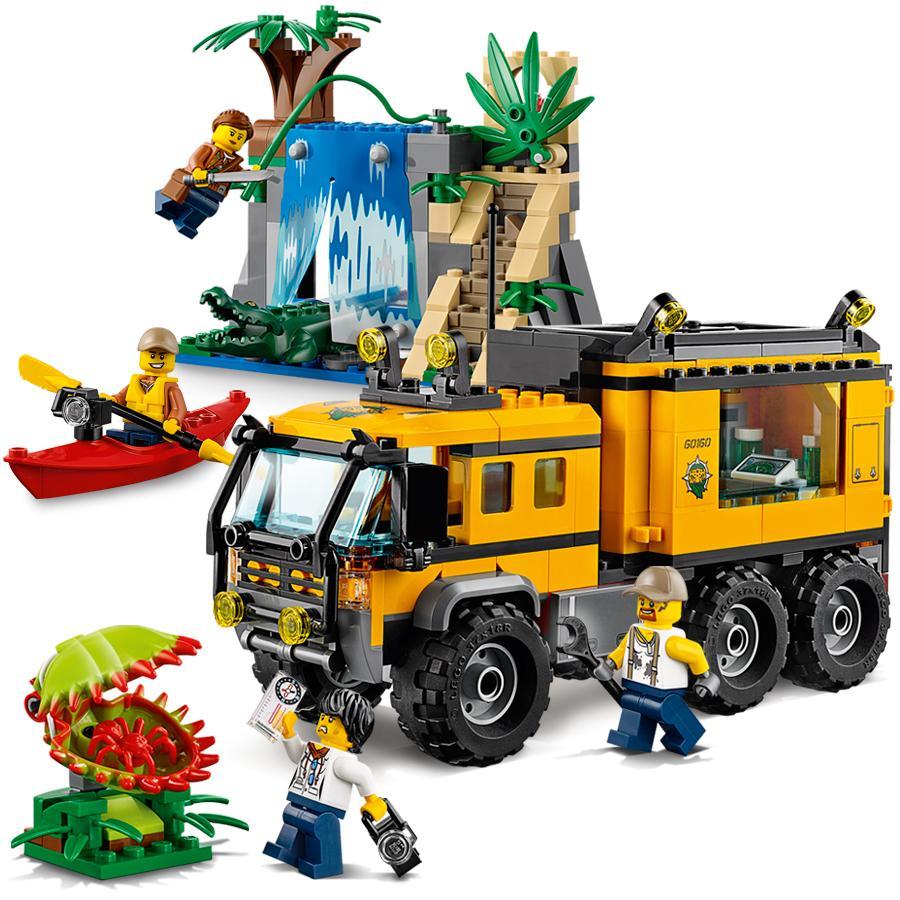 LEGO City Jungle Explorers Jungle Mobile Lab 60160 ...