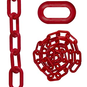 Mr Black Chain Plastic Barrier Chain Pail 50003-P 160-Foot Length 2-Inch Link Diameter