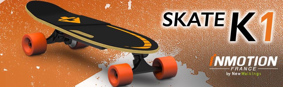 inmotion, skate, k1, skateboard, overboard, hoverboard, sans télécommande