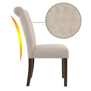 Amazon Com Merax Luxurious Fabric Dining Chairs With
