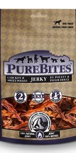chicken; sweet potato; purebites; treats; dog