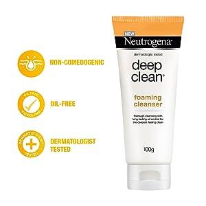 Neutrogena, deep clean, deep clean foaming cleanser, Neutrogena deep clean foaming cleanser