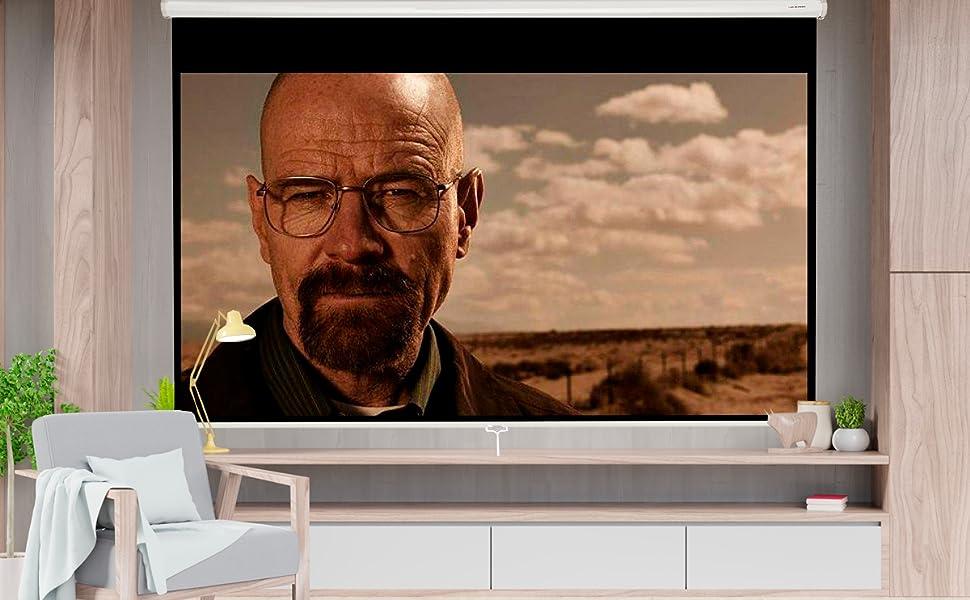 """pantalla de proyección manual 106"""", pantalla para proyector, comprar pantalla para proyector amazon"""