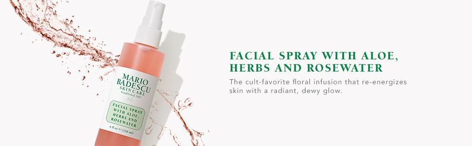 Facial Spray With Aloe Herbs And Rose Water