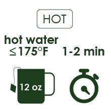 organic sencha hot brewing