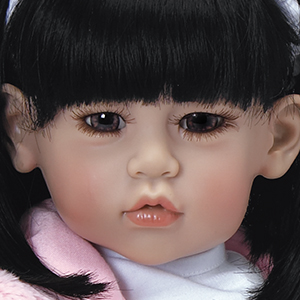 """19"""" Adora Baby Doll """"Cottontail"""" Toddler Time Bunny Coat W// Black Hair Asian MWB"""
