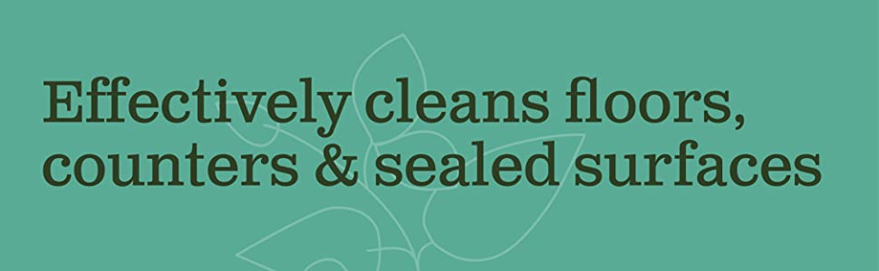 cleans floor counters sealed surfaces